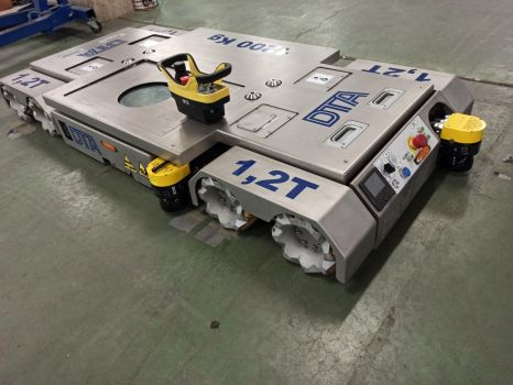 AGV 1,2 in stainless steel fully automatic with mecanum wheels DTA