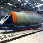 AGV for handling windmill blades :: DTA