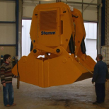 Clam bucket  for bulk materials :: STEMM 4CH-3,2