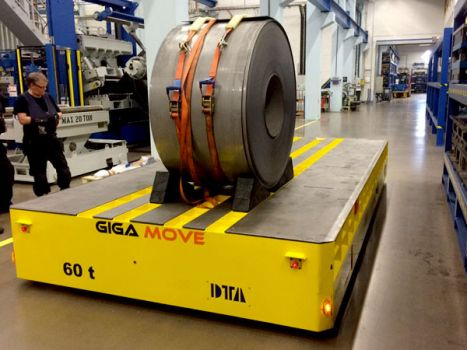 Coils transporter electric self-propelled trailer DTA