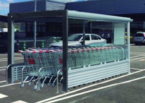 Covered shopping cart corral COVERCARTT OLIVER