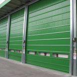 High-speed fold-up door :: SACINE