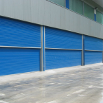 Industrial vertical sliding doors