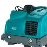 Large integrated ride-on scrubber-sweeper :: TENNANT M30