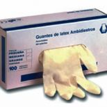 Latex disposable gloves :: RESSOL Refs. 03201 - 03202 - 03203