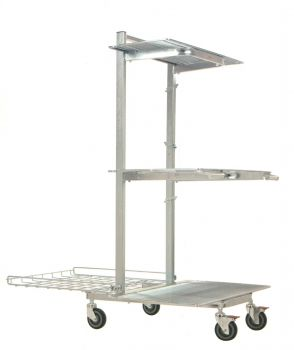 Nestable re-stocking trolley CARTTEC Mercure