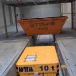 Rail transfer car with lifting device :: DTA