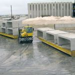 Rolltrailer for the transport of precast concrete :: DTA