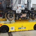 Self-propelled trailer for handling bogies of trains :: DTA