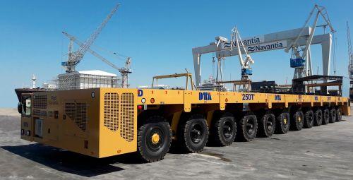 Self propelled trailer for shipyard application DTA