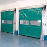 Self-repairing high-speed roll-up door :: SACINE Evo