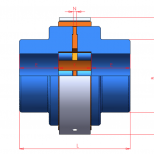 Shaft to shaft elastic coupling :: UNE Acoflex A series