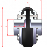 Shaft to shaft flexible coupling :: UNE Serie 1