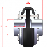 Shaft to shaft flexible coupling :: UNE DVA Series