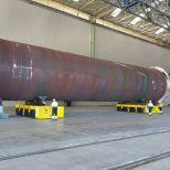 SPMT for handling offshore towers :: DTA