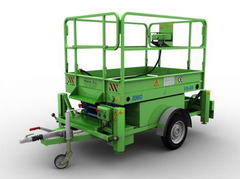 Trailer mounted aerial work platform EMC PE-8R