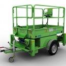 Trailer mounted aerial work platform :: EMC PE-8R
