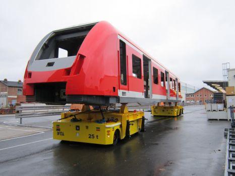 Transfer cart system for handling wagons DTA