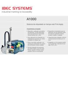 """A-1000 """"Print-Apply"""". Impresora-aplicadora de etiquetas."""