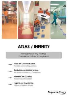ATLAS. Homogeneous vinyl floorings.