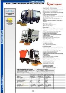 BAV120ART - BAV200DRIVER - BDV1500AA. Barredora de aspiración.