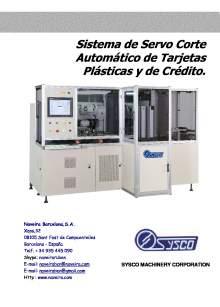 CAR-5HS. Sistema de servo corte automático de tarjetas plásticas y de crédito.