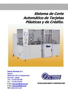 CAR-5N. Sistema de corte automático de tarjetas plásticas y de crédito.