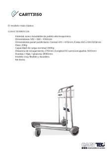 CARTTEC  CARTT3150. Airport cart