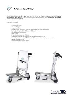 CARTTEC  CARTT3200-G0. Airport cart