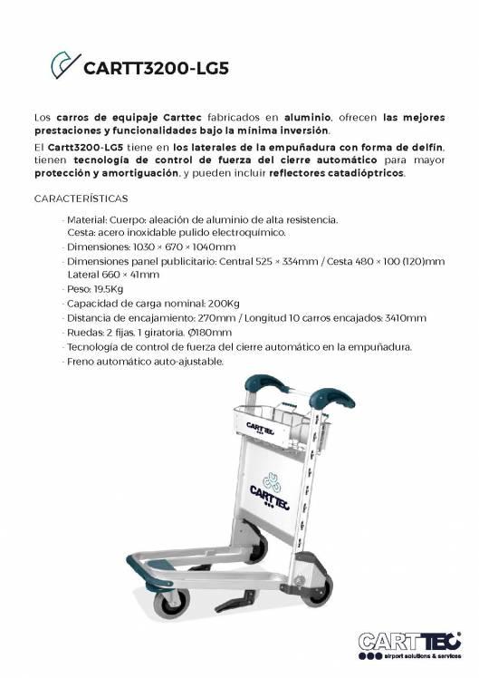 CARTTEC  CARTT3200-LG5. Carro portaequipaje para aeropuerto 1