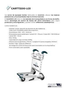 CARTTEC  CARTT3200-LG5. Airport cart