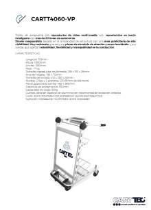 CARTTEC CARTT4060-VP. Airport cart