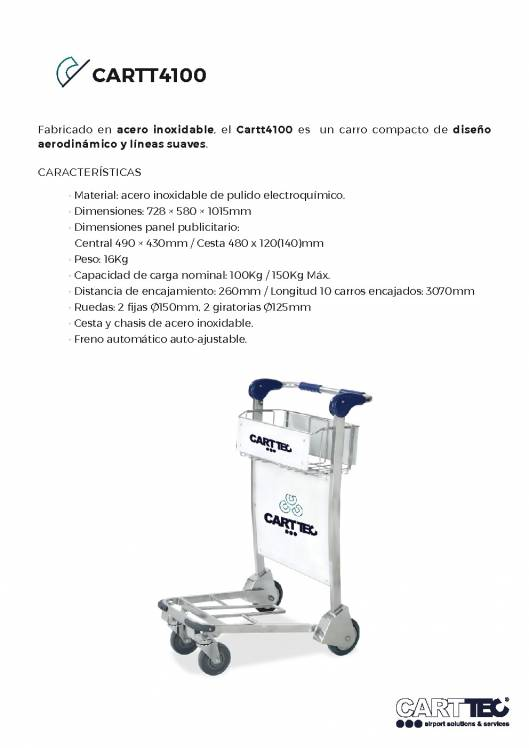 CARTTEC CARTT4100. Carro portaequipaje para aeropuerto 1