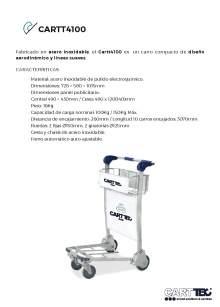 CARTTEC CARTT4100. Airport cart