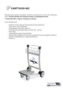 CARTTEC CARTT4100-W2. Airport cart