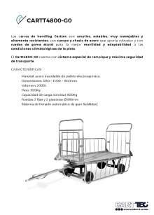 CARTTEC CARTT4800-G0. Airport cart