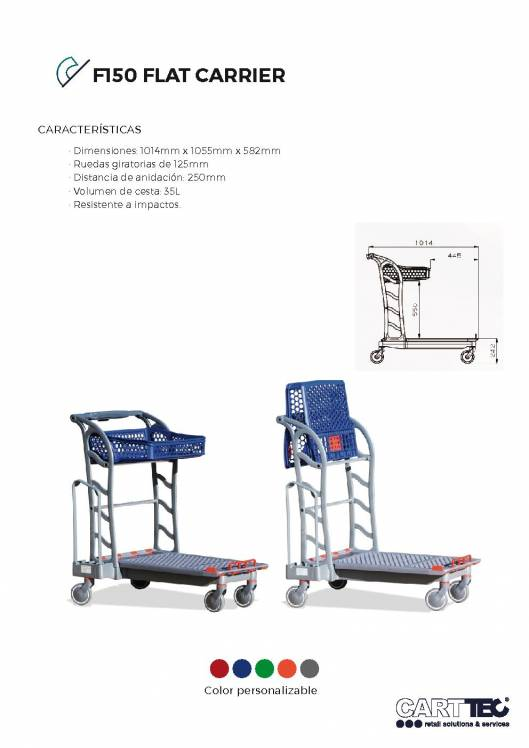 CARTTEC  F150 Flat carrier. Carro bricolaje 1