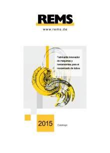 Catálogo general REMS 2015