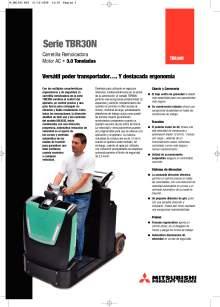 Catálogo de tractor de arrastre eléctrico para conductor incorporado MITSUBISHI TBR30N