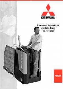 Catálogo de transpaleta eléctrica de conductor montado de pie MITSUBISHI PBR
