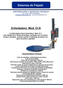 CI-S. Enfardadora semi-automática
