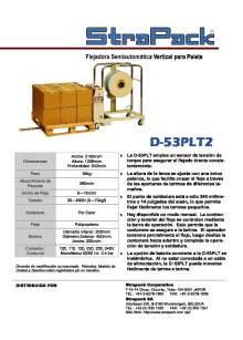 COMOSA STRAPP D-53PLT2. Flejadora semiautomática vertical para palets.