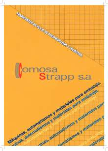 COMOSA STRAPP.. Polypropylene and polyester strapping.