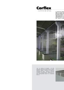Corflex. Curtain of PVC slats
