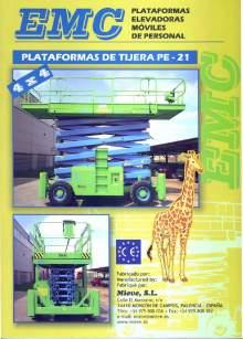EMC PE 21 catalog. Self propelled scissor lifts