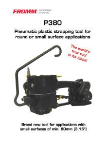 FROMM PH 380. Pneumatic strapping tool for plastic straps.