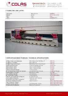 GEMINIS GHT-4 720 x 4000. CNC lathe