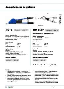 GESIPA. Remachadora palanca HN2.