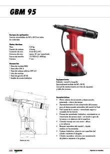 GESIPA. RRemachadora-Neumatica-GBM95-Tuercas-Remachables.
