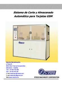 GSM. Sistema de Corte y Almacenado Automático para Tarjetas.